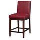 Standard Furniture Couture Elegance Upholstered Counter Height Chair (Set of 2) in Red 10579