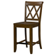 Standard Furniture Vintage X-Back Counter Height Stool (Set of 2) in Brown 11337