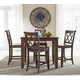 Standard Furniture Vintage 6-Piece Counter Height Dining Set in Brown
