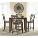 Standard Furniture Vintage 6-Piece Counter Height Dining Set in Grey