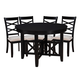 Standard Furniture Epiphany Round Table and 4 Chairs Set in Black 12542