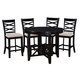 Standard Furniture Epiphany Counter Height Table and 4 Stools Set in Black 12552