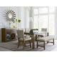 Standard Furniture Riverton 6-Piece Leg Dining Table Set in Grey