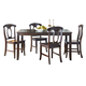 Standard Furniture Larkin Leg  Dining Table and 4 Chairs Set in Antique Cherry 15242