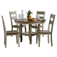 Standard Furniture Pendleton Sage Leg Table and 4 Chairs Set in Burnished Sage 15622