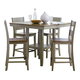 Standard Furniture Pendleton Sage Counter Height Table and 4 Stools Set in Burnished Sage 15632