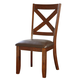 Standard Furniture Omaha X-Back Side Chair (Set of 2) in Saddle Brown 16184