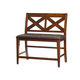 Standard Furniture Omaha X-Back Bench in Saddle Brown 16189