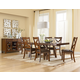 Standard Furniture Omaha 7-Piece Trestle Table Set in Saddle Brown