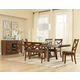 Standard Furniture Omaha 6-Piece Trestle Table Set in Saddle Brown