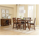Standard Furniture Omaha 7-Piece Counter Height Table Set in Saddle Brown