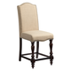 Standard Furniture McGregor Upholstered Counter Height Chair (Set of 2) in Midnight Brown 17737