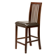 Alpine Furniture Anderson Pub Chair with Bicast Cushion (Set of 2) in Medium Cherry 113-05