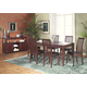 Alpine Furniture Anderson 7-Piece Dinette Table Set in Medium Cherry