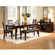 Alpine Furniture Anderson 6-Piece Dinette Table Set in Medium Cherry