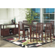 Alpine Furniture Anderson 7-Piece Pub Table Set in Medium Cherry