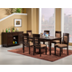 Alpine Furniture Columbia 7-Piece Extension Dining Room Set in Walnut