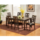 Alpine Furniture Piedmont 7 Piece Rectangular Dining Room Set in Dark Walnut
