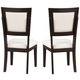 Alpine Furniture Midtown Side Chair with White Cushions (Set of 2) in Espresso 581-02W