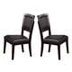 Alpine Furniture Midtown Side Chair with Black Cushions (Set of 2) in Espresso 581-02B