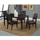 Alpine Furniture Midtown 5-Piece Dining Room Set with Black Chair