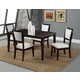 Alpine Furniture Midtown 5-Piece Dining Room Set with White Chair