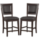 Alpine Furniture Midtown Counter Height Chairs with Black Cushions (Set of 2) in Espresso 581-04B