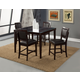Alpine Furniture Midtown 5-Piece Counter Height Dining Room Set with Black Chair