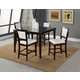 Alpine Furniture Midtown 5-Piece Counter Height Dining Room Set with White Chair