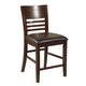 Alpine Furniture Granada Pub Chairs (Set of 2) in Brown Merlot 1437-04