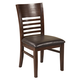 Alpine Furniture Granada Side Chairs (Set of 2) in Brown Merlot 1437-02