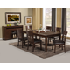 Alpine Furniture Granada 7-Piece Extension Dining Room Set in Brown Merlot