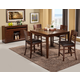 Alpine Furniture Granada 5-Piece Pub Set in Brown Merlot