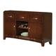 Alpine Furniture Bradbury Buffet in Cappuccino 637-25