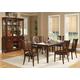 Alpine Furniture Bradbury 7-Piece Extension Dining Room Set in Cappuccino