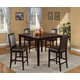 Alpine Furniture Jackson 5-Piece Pub Table Set in Dark Cherry