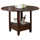 Alpine Furniture Morgan Counter Height Table in Espresso 259-22