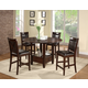 Alpine Furniture Morgan 5-Piece Counter Height Dining Room Set in Espresso