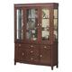 Alpine Furniture Saratoga Hutch & Buffet in Dark Walnut 341-71/72
