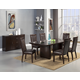 Alpine Furniture St. Martin 7-Piece Dining Room Set in Espresso