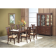 Alpine Furniture Saratoga 7-Piece Leg Dining Room Set in Dark Walnut
