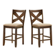 Alpine Furniture Albany Counter Height Chair (Set of 2) in Dark Oak 4278-04