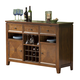Alpine Furniture Albany Server with Wine Storage in Dark Oak 4278-06