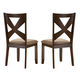 Alpine Furniture Albany Side Chair (Set of 2) in Dark Oak 4278-02