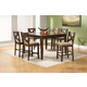 Alpine Furniture Albany 7-Piece Counter Height Dining Room Set in Dark Oak