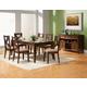 Alpine Furniture Albany 7-Piece Dining Room Set in Dark Oak