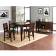 Alpine Furniture Lakeport 5-Piece Counter Height Dining Room Set in Espresso