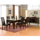 Alpine Furniture Havenhurst 7-Piece Extension Dining Room Set in Merlot