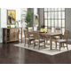 Alpine Furniture Aspen 7-Piece Dining Room Set in Iron Brush Antique Natural