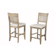 Alpine Furniture Aspen Pub Chair (SET OF 2) in Iron Brush Antique Natural 8812-04 PROMO